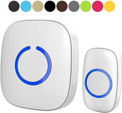 Wireless Doorbell by SadoTech – Waterproof Door Bells & Chimes Wireless Kit – Over 1000-Foot Range, 52 Door Bell Chim...