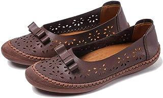 Dames Loafers Instapper Knoop Hol Ronde Neus Instapper Effen Kleur Zomer Herfst Lichtgewicht Platte Casual Schoenen