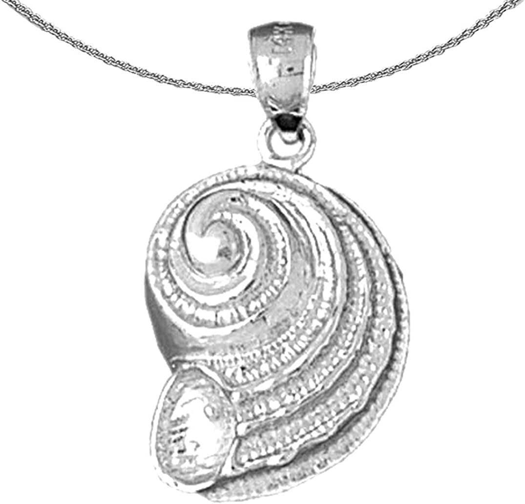 Jewels Obsession Silver Manufacturer OFFicial shop Nautilis Sale special price Necklace Shell Rhodium-plated