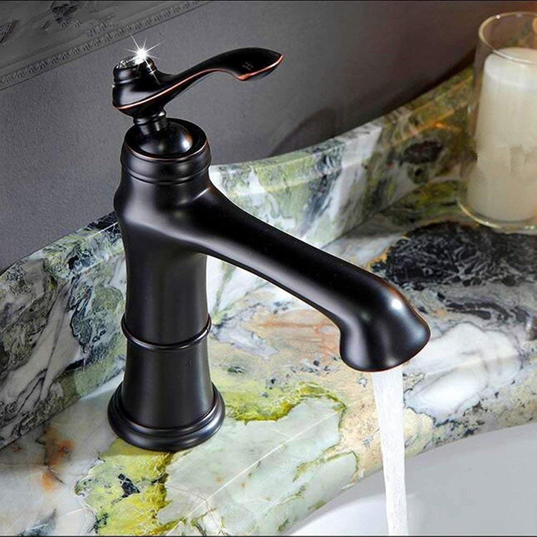 Oudan Kupfer schwarz Badezimmer unter Theke Basin Waschbecken Wasserhahn antike europische Wasser Schrank mit Wasserhahn (Farbe   -, Gre   -)