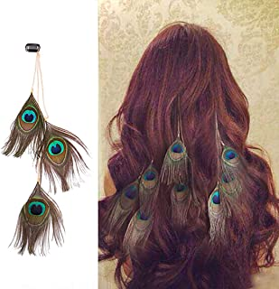 peacock feather extensions for hair