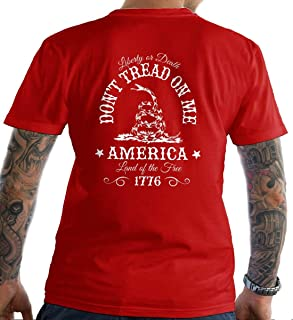 Don't Tread on Me. Liberty or Death. T-Shirt. Made in USA