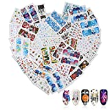 46 Feuilles Christmas & New Year Theme 3D Nail Stickers, Mwoot Water Transfer Santa Claus Reindeer Xmas Tree Nail Art Tattoo Nail Decals DIY Nail Art Decoration Tip Stickers