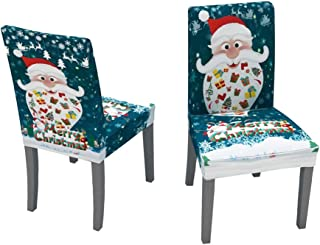 CreazyBee Chair Covers Chair Seat Covers Stretch Removable Washable Dining Room Chair Protector Slipcovers Christmas Decoration/Home Decor Dining Room Seat Cover (Multicolor)