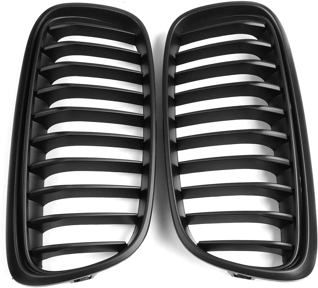 National uniform free shipping Car Racing Grills Pair Matte Black BMW Grille for Super intense SALE 2 Grill Front