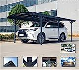 ITALFROM Carport Tettoia per Auto in Policarbonato e Alluminio - 505x300 cm da Esterno o d...