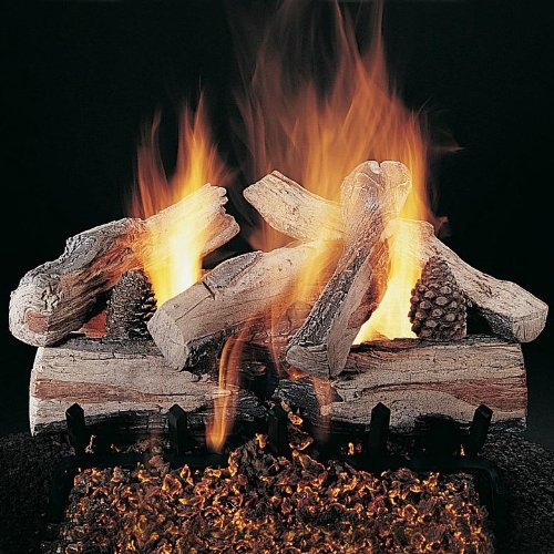 Read About Rasmussen 30-Inch Evening Crossfire Gas Log Set with Vented Propane LD Multi-Burner - Var...