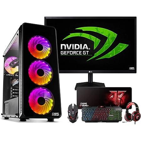 Megamania Gaming PC Ordenador SOBREMESA Intel G6400 4Ghz | 16GB DDR4 | SSD 480GB | GRÁFICA NVIDIA GT1030 4GB | WiFi | Monitor Full HD 22