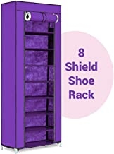 ELECTROPRIME Sahleen 8 Layer Collapsible Shoe Stand Shoe Rack Shoe Cabinet Storage Organizer