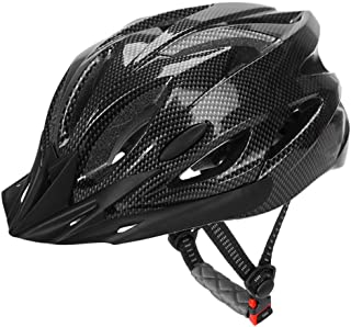 Shopizone® Lightweight Bicycle Helmet with Detachable Visor LED Light Adjustable Size Cycling Helmet for Men and Women Grey