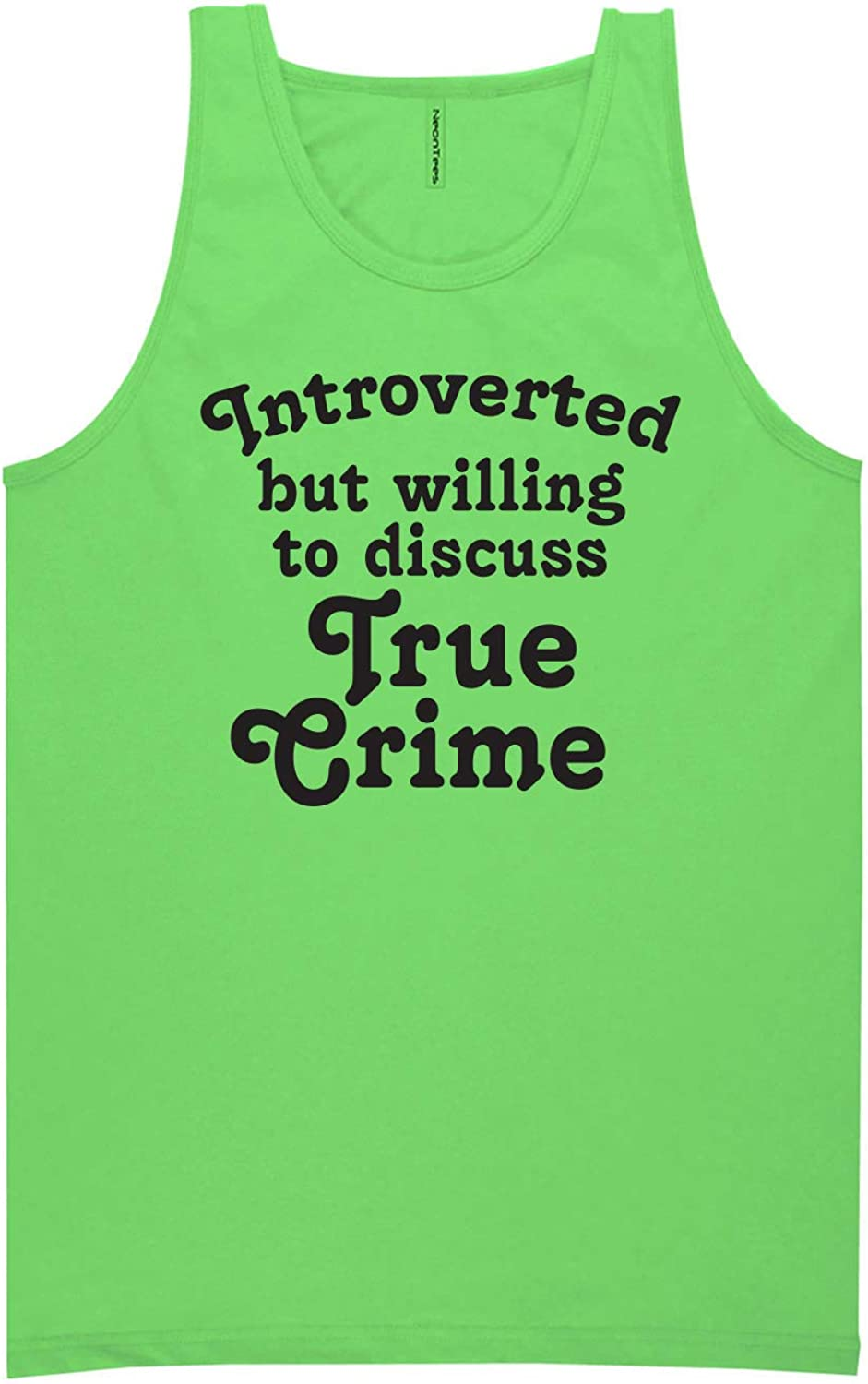 Introverted.Discuss True Crime Neon Tank Top
