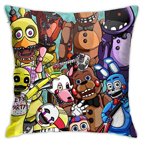 SSHELEY Five-Nights Freddy 's Square Square Throw Pillows Covers Cojines Fundas de Almohada para sofá Decoración del hogar Ropa de Cama