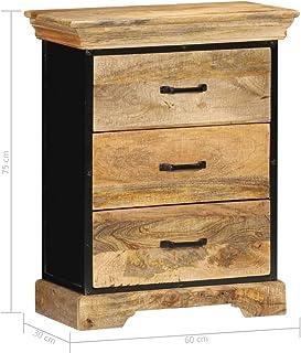 Tidyard Mueble con Cajones Elegante Resistente al Desgaste 60x30x75 cm Madera Maciza de Mango