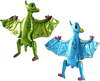 2Pcs 3D Self Standing Inflatable Dinosaur Balloons for Birthday Party Baby Shower Decorations Jungle Theme Party Supplies ...