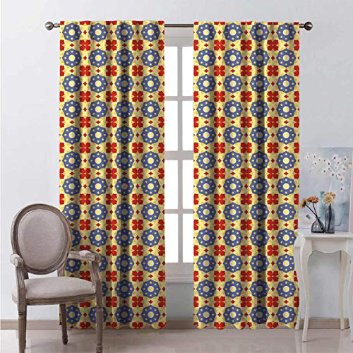 Toopeek Shading insulated curtain Arab Culture Inspired Soundproof shade W108 x L108 Inch