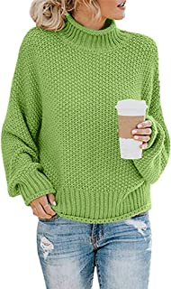 Kiyotoo Turtleneck Sweater Women Plus Size Casual Baggy Batwing Long SleeveKnitted Sweater Turtle Neck Pullover Jumper