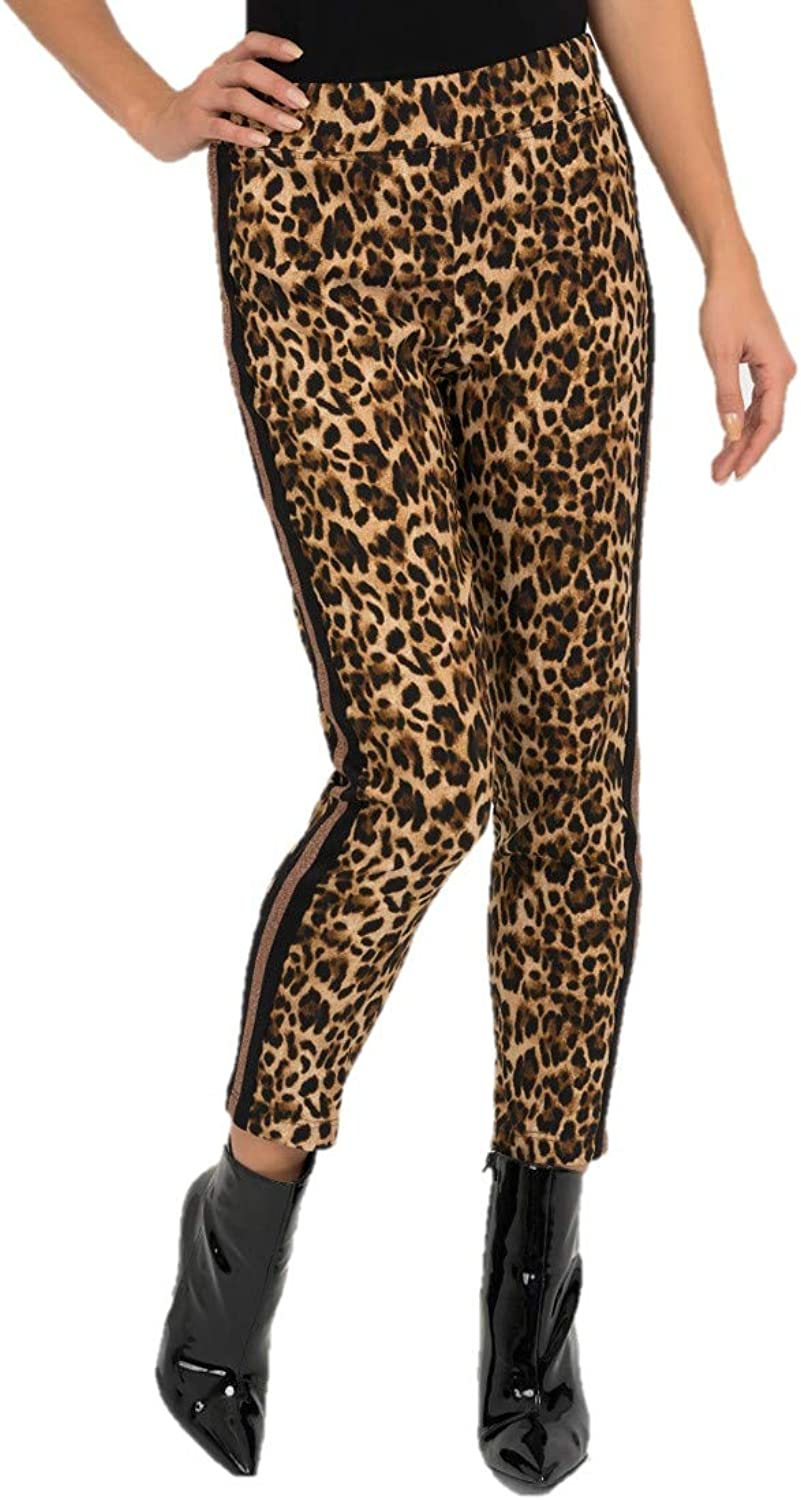 Joseph Ribkoff Brown & Black Leopard Print Pants Style  193681 Fall 2019 Collection