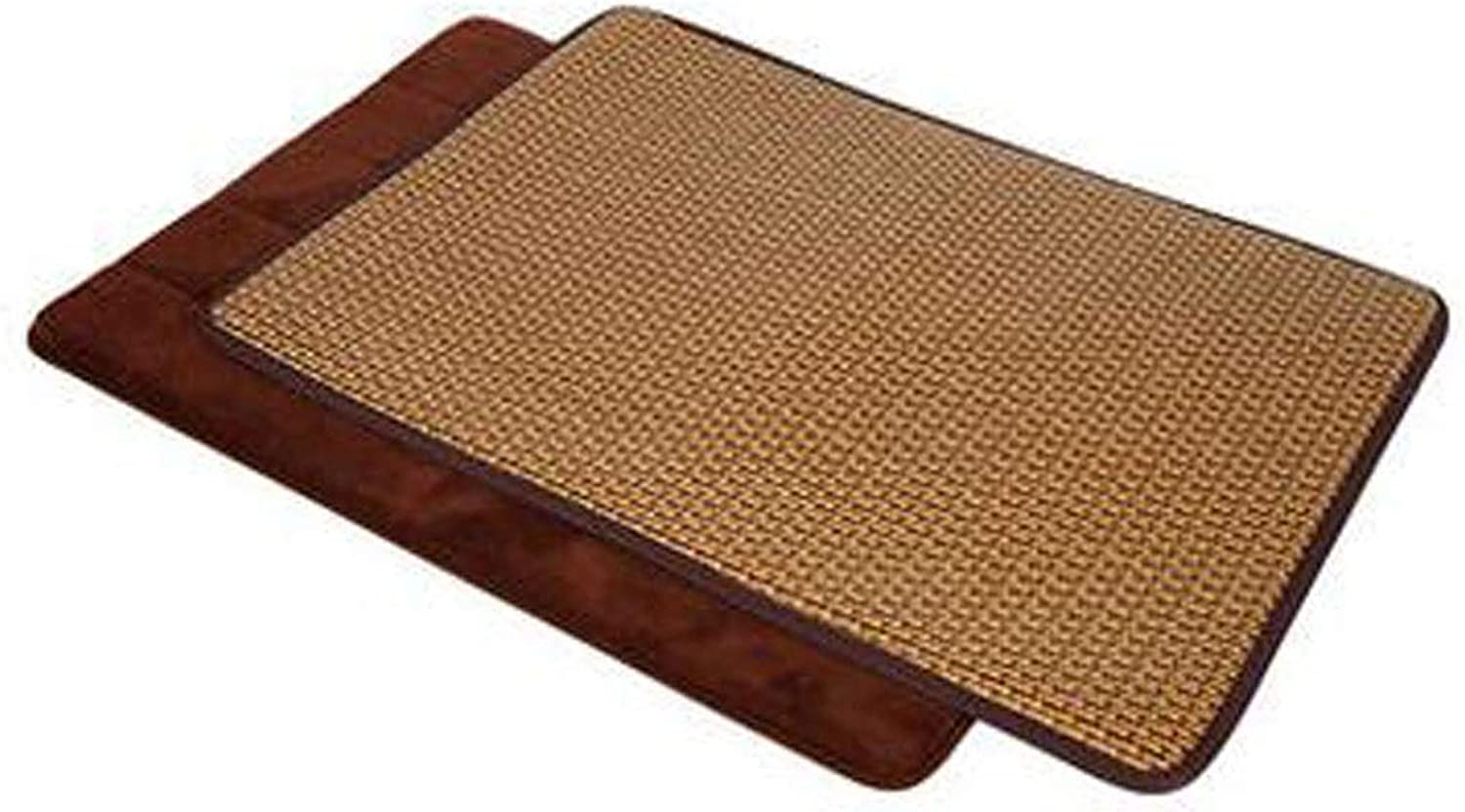 Dog Cooling Mattress Dog and Cat Bed Rattan Cooling Pad, Oversized - Non-Toxic, Non-Stick, Skin Friendly, Keeps Pets Cool and Cushioned, Set (mat + Cool Pad XL) (color   Brown, Size   S)