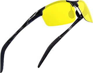 Sports Polarized Sunglasses for Men - wearPro Driving Sunglasses Al-Mg Metal Frame WP1005