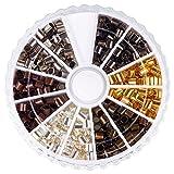 PandaHall Messing Quetschperlen Metallperlen, Gemischte Metallfarben, & 3x3 mm, Bohrung: 2~2.5 mm; ca. 420 St¨¹ck/Kasten