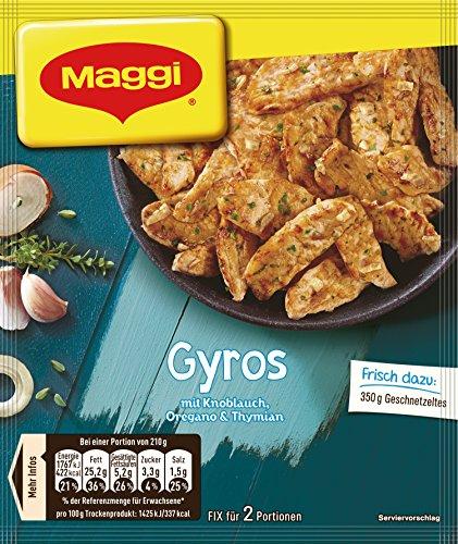 Maggi fix & frisch, Gyros, 30 g Beutel, ergibt 2 Portionen