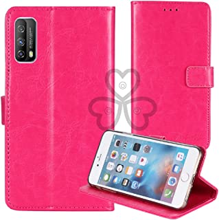 TienJueShi ピンク ビジネス レトロ 耐汚れ スタンド 財布 TPU Silicone シリコーン レザー 合皮 Case Cover vivo iQ0O Z1x 6.57 inch カード収納 カバー ケース ポーチ 手帳型