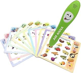 قلم التعليم الذكي ام انا، يقوم بقراءة البطاقات باللغة الانجليزية ليتعلم الاطفال ويحظوا بوقت ممتع