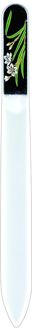 アルミニウム仕方耕す橋本漆芸 ブラジェク製高級爪ヤスリ 一月 水仙 紙箱
