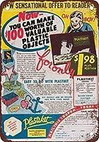 ヴィンテージはがきアート装飾1946プラスチック金属ポスタープラーク警告サイン鉄絵画アート装飾バーカフェガーデン寝室オフィスホテルでお金を稼ぐ