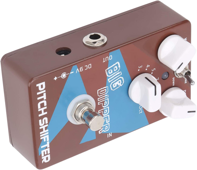 Pedal de refuerzo, portátil, 4.4 x 2.5 x 1.3 in, cambio de tono marrón, larga vida útil para amantes de la música, para actuaciones al aire libre, para clubes de música, para guitarristas