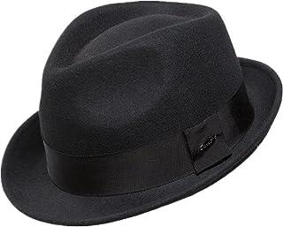 Home Prefer Men's Wool Felt Winter Hat Short Brim Fedora Hat