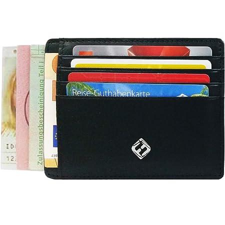 Edelstahl Kartenhalter Karbonfaser-Schwarz Kreditkarten-Halter RFID-Blocking Metall Slim Wallet mit Geldklammer