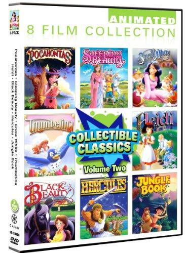 Animated Classics Collection Volume 2- 8 Pack: Pocahontas/ Sleeping Beauty/ Snow White/ Thumbelina/ Heidi/ Black Beauty/ Hercules/ Jungle Book Kentucky