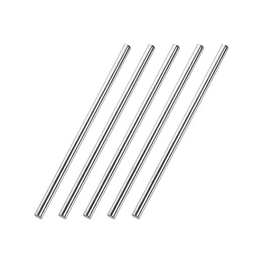 uxcell 4mm x 50mm 304 Stainless Steel Solid Round Rod for DIY Craft 20pcs