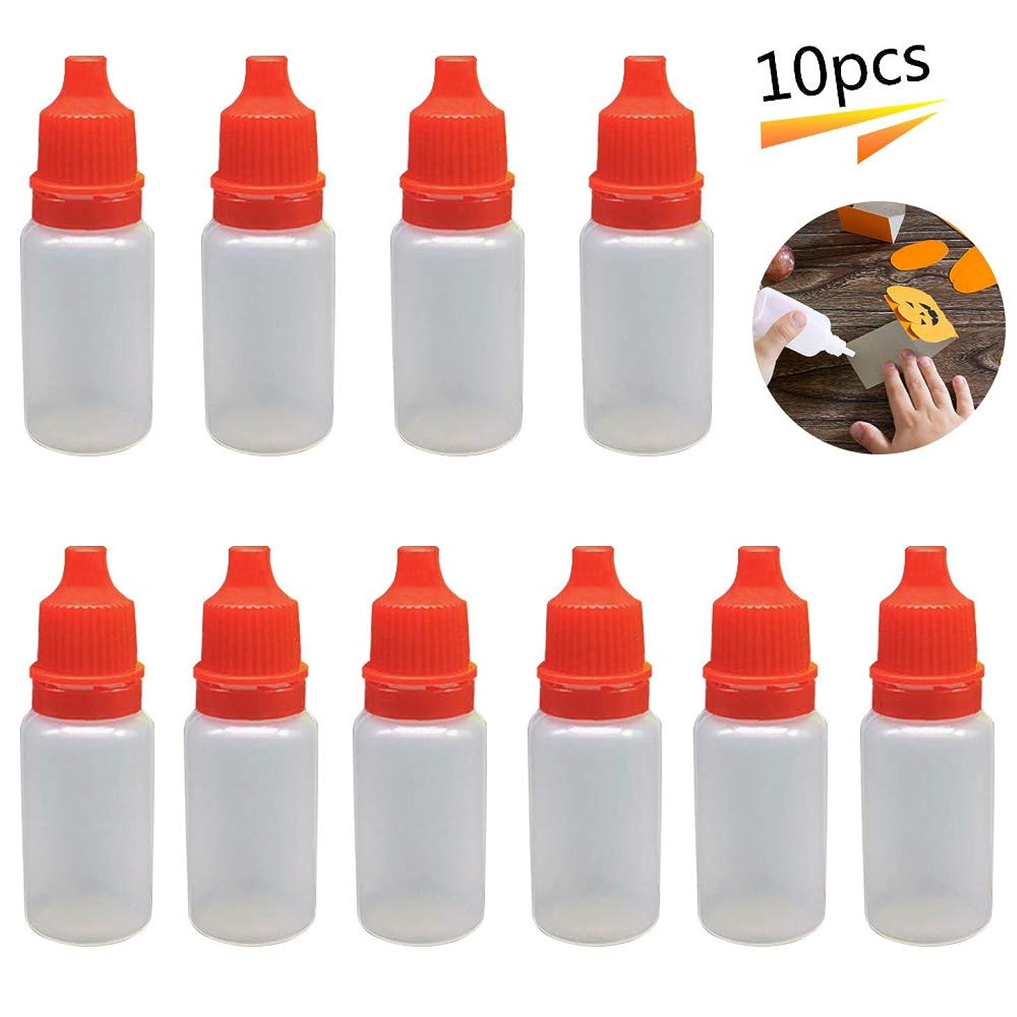 シャンプー顕微鏡設置リキッドボトル ドロッパーボトル ニードルボトル スポイト 詰め替え 容器 電子タバコ リキッド注入用 リキッドの補充に便利 小分け 携帯用 ブレンド用プラスチック製「5ml レッド」