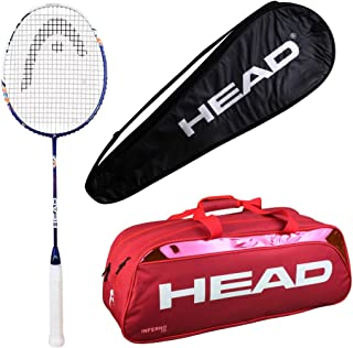 HEAD Head Xenon 3.3 Badminton Racquet Set with Inferno 70 red kitbag