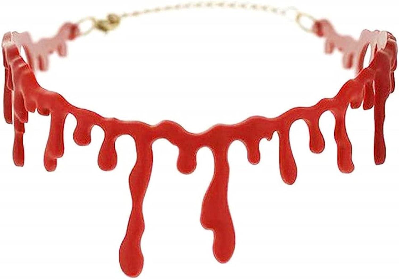 Tik LP Bloody Choker, Horrible Collar De Cicatrices Sangrientas, Gargantilla De Vampiro Halloween Zombie Punk Cosplay Horror Punk Red Fake Bloodstain Choker for Favors Favores Dress Up Decoraciones