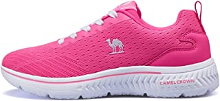 Camel Running Shoes Women Breathable Casual Sneakers Lightweight Athletic Shoe Slip-On Walking Footwear