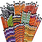 36 Pieces Halloween Pencils Wood Pencils Assorted Patterns Pencils for Halloween Party Favor, 12 Styles