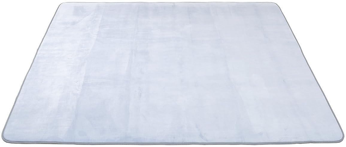 首相パーツカビごろ寝ができる 低反発パフタッチラグ 撥水 200×240cm グレー 151100184JJ04