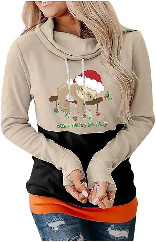 Spring new work Women's Patchwork Hoodie Printing Casual Popular Loose Hooded Sweatshirt