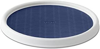 Copco 5224642 Non-Skid Pantry Cabinet Lazy Susan Turntable, 12-Inch, White/Blue