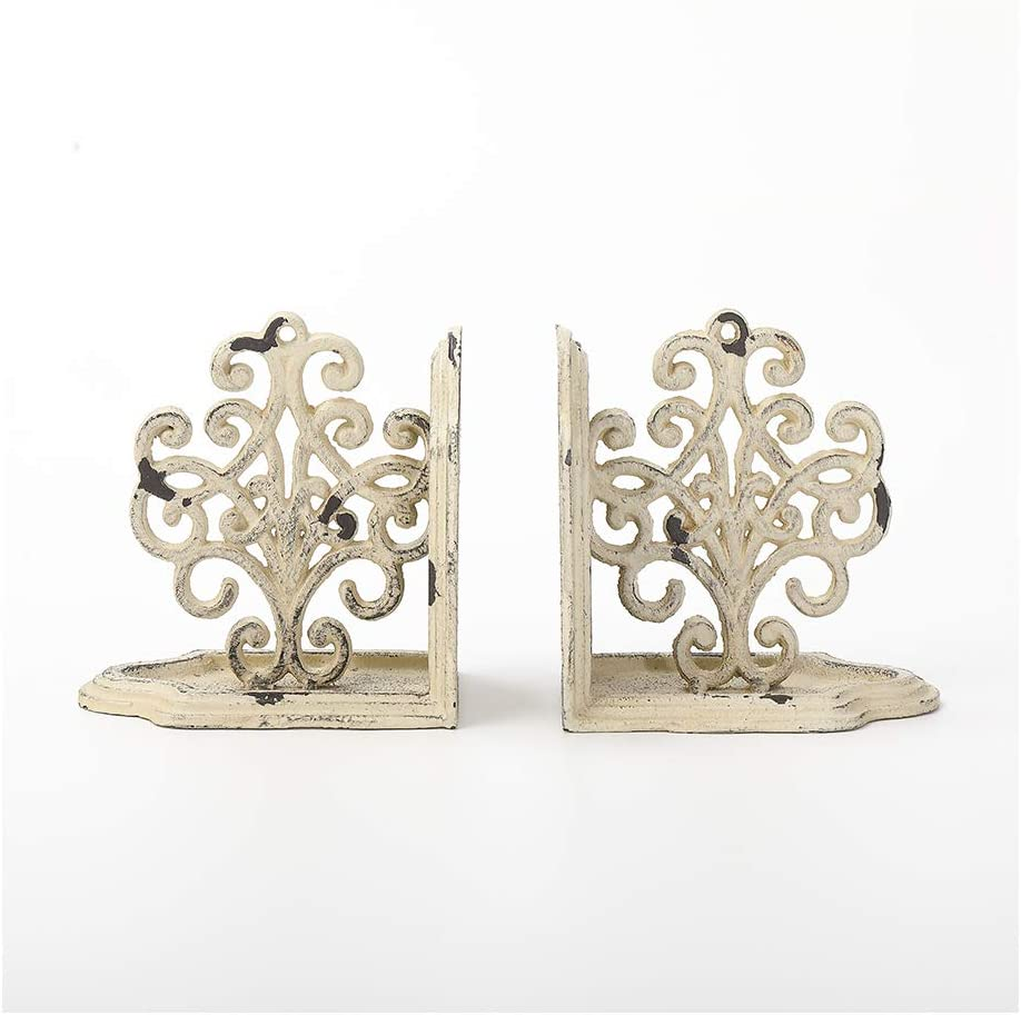 Max 48% OFF Trust Jemeni Cast Iron Vertical Scrollwork Duty Bookends Heavy 1 Pair