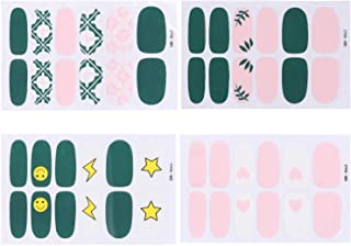 Cute Nail Art Decals Self-adhesive Tip Stickers for Women Design Sticker Polish Strips Nail Art Wraps with Multi Pattern Acrylic DIY Decoration