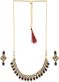 Zaveri Pearls Cubical Style kundan Necklace Set For Women -ZPFK4140