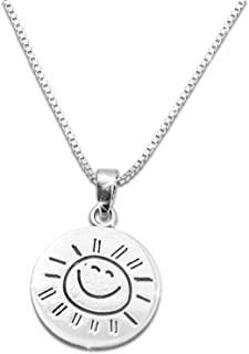 "Sterling Silver You are My Sunshine My only Sunshine Necklace (18"" Chain Included)"