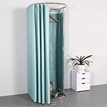 YXYECEIPENO Simple Fitting Room Clothing Store Fitting Room Shopping Center Office Dressing Room Foldable Curtains and Lan...