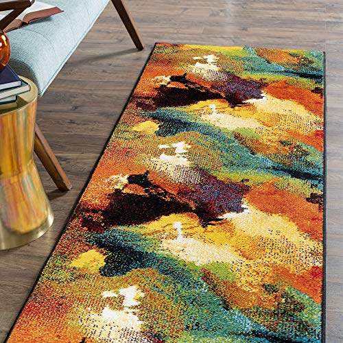 Tayse Vida Multi-Color 5x8 Rectangle Area Rug for Living, Bedroom, or Dining Room - Modern, Abstract