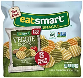 Eatsmart Snacks Veggie Crisps, 100 Calorie Multipack, Sea Salt, 8 Count