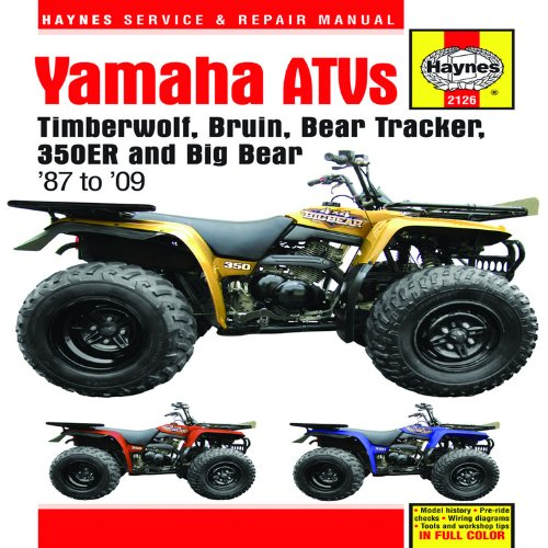 yamaha wolverine 350 1996 factory service repair manual
